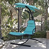 BELLEZE Hanging Chaise Floating Swing Chaise Lounge Chair Hammock...
