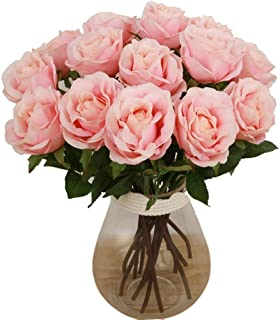 Sponsored Ad - Bringsine Premium Artificial Flowers, Silk Flowers Artificial Rose Flowers Home Decorations for Bridal Wedd...
