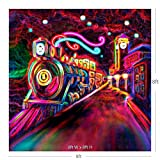 Soul Train Backdrop Photography - Soul Train Party Theme Decorations, 100% Polyester, Seamless, Crease Resistant, Lightweight, Machine Washable (8 x 8)