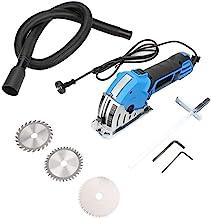 Mini sierra circular Sierra compacta, 550W Mini kit de sierra circular eléctrica portátil multifuncional DIY Sierra eléctrica con velocidad fija