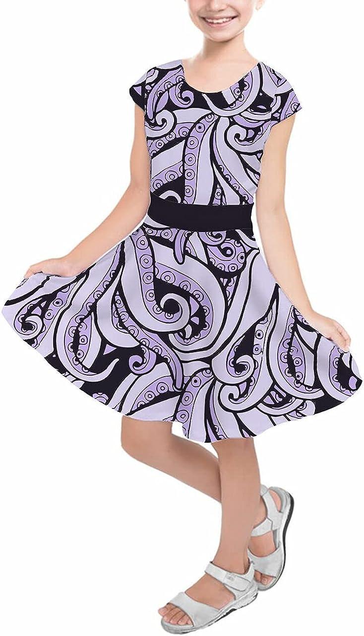 Ranking TOP2 Girls Short Sleeve 40% OFF Cheap Sale Skater Dress - Ursula Inspired Villains