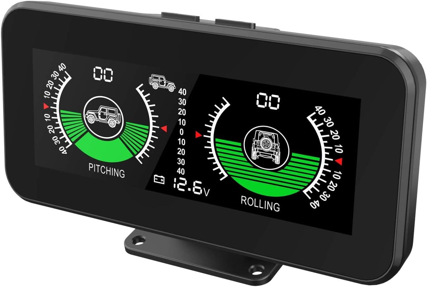 MR CARTOOL M50 Medidor de pendiente de ángulo inteligente GPS,Inclinómetro digital de coche Indicador de inclinación/ángulo del vehículo para todos los vehículos