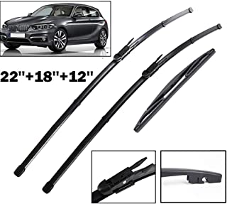 HCDSWSN Front & Rear Wiper Blades Set,for BMW 1 Series F20 F21 114i 116i 118i 120i 125i M135i M140i 116d 118d 125d 2011-2019 2018 2017,Wiper Blade