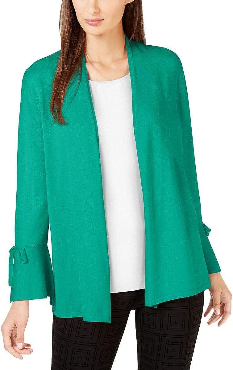 Alfani Womens Green Open Cardigan Wear to Work Top Size M