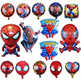 KRUCE 15 PC Globos de Papel de Fiesta de cumpleaños de superhéroe Spiderman, Globos de Papel de superhéroe Spiderman para Regalos de niños Suministros de Fiesta de cumpleaños decoración