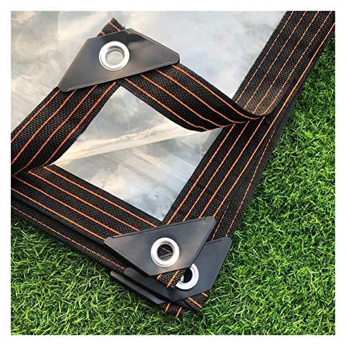 XXIOJUN Lona Impermeable, Lona De Plástico PVC con Ojales, Lona De Carpa Transparente Pesada para Cubiertas De Hojas De Plantas De Flores A Prueba De Lluvia (Color : Claro, Size : 4x10m)