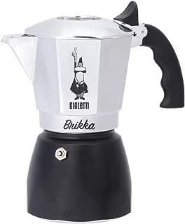 Bialetti : Brikka Stovetop Espresso Maker 4 Cup - Black Bottom