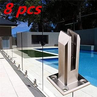 S WIDEN ELECTRIC 1/8 PCS Stainless Steel Glass Clamps, 8-15mm, Glass Spigot for Balusters Railing Post/Balcony/Terrace/Handrail Banister/Pool Frameless Fence Balustrade
