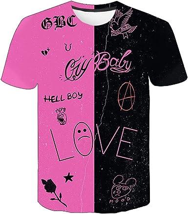 IFITBELT Lil Peep Camisa Corta con Estampado 3D Camiseta Hombre Mujer Niños Niñas Niños Verano Cuello Redondo tee Tops