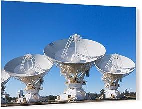 Radio Telescope parabolic Dish Antenna Array Acrylic Wall Art Photo Print Carl Chapman 1713 (120x80cm (47.2×31.5in))