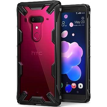 【Ringke】HTC U12 Plus ケース 対応 コスパ最高 ストラップホール 落下衝撃吸収 [米軍MIL規格取得] TPU PC 2重構造 スマホケース 吸収耐衝撃カバー 背面クリア Qi充電対応 Fusion-X (Black/ブラック) U12 Plus ケース