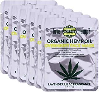 Hemp Overnight Face Mask with Pure Organic Hemp Seed Oil – 6 Pack Bundle