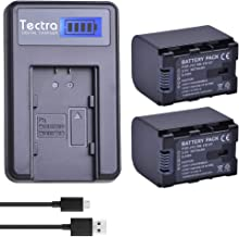 Tectra 2 Pack BN-VG121 Battery and LCD USB Charger for JVC BN-VG121U, BN-VG121US, BN-VG138, BN-VG138U, BN-VG138US, BN-VG107, BN-VG107U, BN-VG107US, BN-VG114, BN-VG114U and JVC Everio GZ-E Series