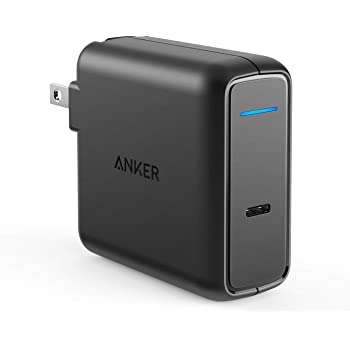 Anker PowerPort Speed 1 PD 60 (60W USB-C 急速充電器)【PSE認証済 / 折りたたみ式プラグ / Power Delivery対応】iPhone, iPad Pro(11インチ、2018) , MacBook, Galaxy S10 / S9, Xperia XZ1 その他USB-C機器対応
