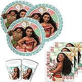 Vaiana - Kit de fêtes - Pour 16 personnes - 52 parties
