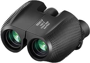 Binoculars Compact Lightweight 10x25 - Waterproof Antiskid Binocular Weak Light Night Vision Folding High Powered Binoculars for Bird Watching, Travel, Hunting, Outdoor Sports Games and Concert Theate