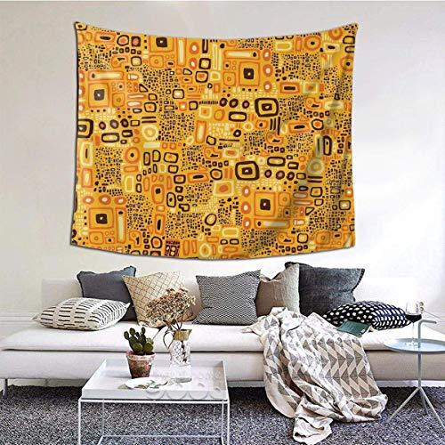 baowen Klimt patrón Tapiz de Pared Colgante de Pared Manta de Pared Arte de Pared Decoraciones Dormitorio Sala de Estar Dormitorio 60X51 Pulgadas