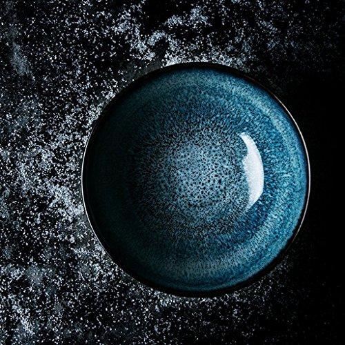 Gweat Kreative American Style Keramik Schüssel Retro Geschirr Nudeln Obstsalat Ramen Suppe Große Schüssel (Farbe : 3)