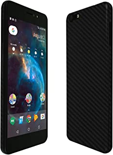 Orbic Wonder Screen Protector + Black Carbon Fiber Full Body, Skinomi TechSkin Carbon Fiber Film for Orbic Wonder with Anti-Bubble Clear Film Screen