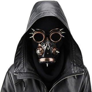 SGJFZD Halloween Mask Biohazard Steampunk Gas Mask Goggles Spikes Skeleton Warrior Death Mask Masquerade Cosplay Halloween...