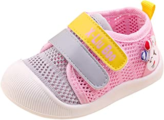 Sponsored Ad - QGAKAGO Baby Girls or Boys Breathable Mesh Upper Rubber Sole Non-Slip Running Sneakers First Walkers Shoes