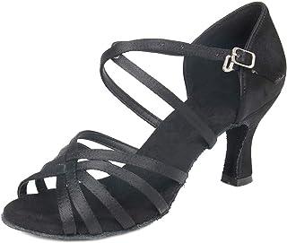 Zapatos de Baile Latino para el salón de Baile con Purpurina y Salsa para Mujer Zapatos de Baile, Modelo CYL028