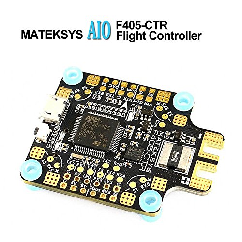 LITEBEE Matek AIO F4 Flight Controller OSD (PDB 4 * 30A, Bateflight OSD, BEC 5V&9V, w/AT7456E Chip, SD Card Slot, VCP+5X UARTs, Current Sensor 200A) for FPV Racing RC Drone Quadcopter by