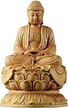 Decoration Boxwood Buddha Statue Sakyamuni Buddha Statue Home Dedication Religious Supplies Home Decorations 6×6×10cm Craf...