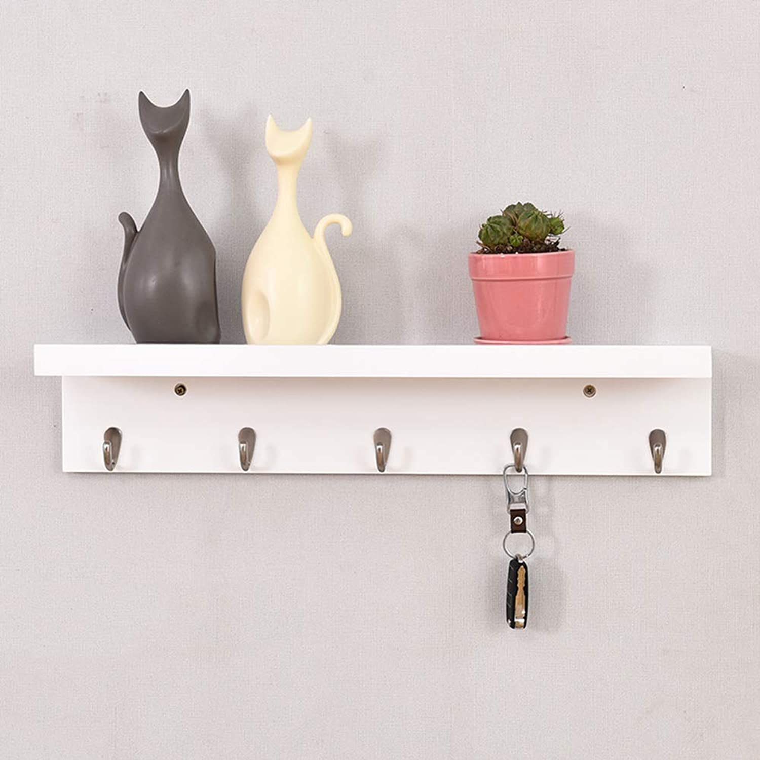 HHXD Fashion Wall Mounted Entrance Storage Shelf Solid Wood Bedroom Coat rack Strong bearing capacity Space Saver Strong Durable Creative C   61  15cm
