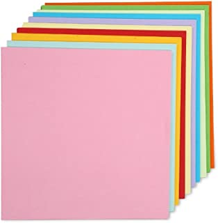 100 Sheets Coloured Double Sided Paper Crane Folding Origami Paper 15cm by 15cm ,10 Colours