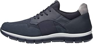 NeroGiardini A901212U Sneaker Hombre De Piel Y Tejido Técnico