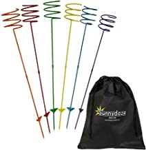 Sunnydaze Outdoor Yard Drink Holder Stakes, Heavy Duty, Set of 6, Multi Colored