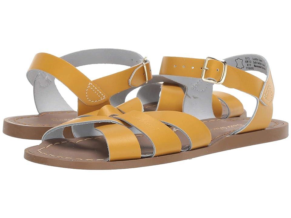 Salt Water Sandal by Hoy Shoes The Original Sandal (Big Kid/Adult) (Mustard) Girls Shoes