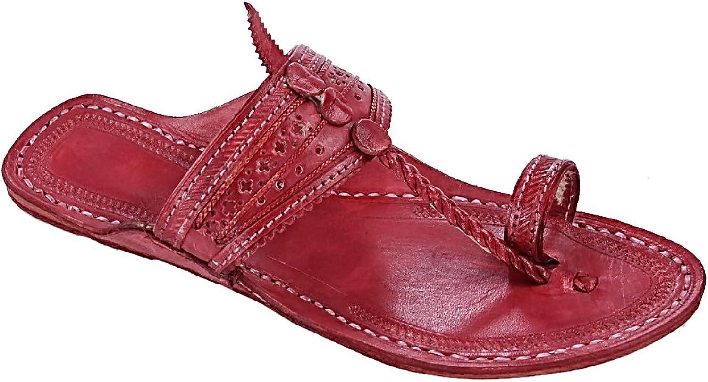KOLHAPURI CHAPPAL Original Nice-Looking Cherry Red For Men Slipper Sandal