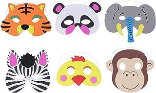 TOYANDONA 6pcs Niños Máscaras de Animales Animal Media Mascarilla para Niños Cosplay Máscara Fiesta de Cumpleaños
