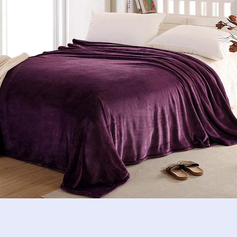 Xuan - worth having L'épaississeHommest de couverture pourpre de pcourire de rouge gardent la couverture chaude de sieste couvertures de dortoir d'étudiant d'hiver couettes ( taille   150200cm )
