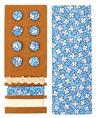 GLOREX Kit de Textile, Polyester, Bleu, 24,5 x 17,6 x 0,5 cm