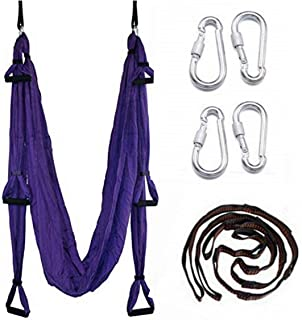 EverKing Aerial Yoga Swing - Ultra Strong Antigravity Yoga Hammock/Sling/Inversion Tool for Air Yoga Inversion Exercises