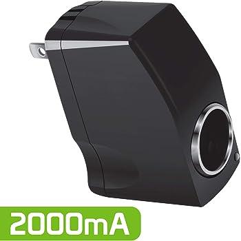 Cellet Universal 2000 mA 12V Output AC Wall to DC Car Cigarette Lighter Port Power Converter Female Adapter (Convert 110 Volt to 12 Volt, AC/DC Adapter)-(2.0 Amp output) (Not for Air Compressor)
