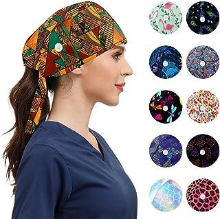 قبعات العمل الأنيقة مع أزرار قابلة للتعديل، عصابة الرأس برباط خلفي، قبعات العمل للنساء الرجال