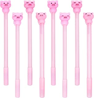 Ancefine 20 Pack Cute Pig Gel Ink Pen with 0.5mm Black Ink Rollerball Pen for Office,School Stationery Supplies, Birthday Gift for Kids, Students
