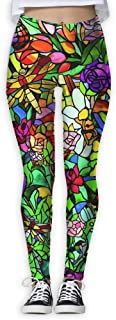 XMKWI Gorgeous Dragonfly Garden Womens Power Flex Gym Yoga Pants Workout Tights Leggings Trouser