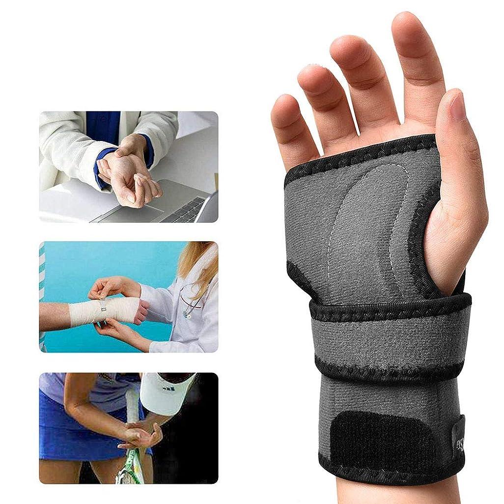 手首 固定 サポーター 、手根管副木シリコンパームパッド痛み緩和、腱炎捻rain男性と女性の関節炎,Right,M
