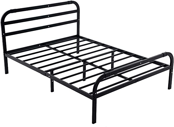 ZIYOO 14 Inch Headboard And Footboard Reinforced Platform Bed Frame 3500lbs Heavy Duty Strengthen Support Mattress Foundation Integrated Structure Easy Assembly Noise Free No BoxSpring Needed Cal King