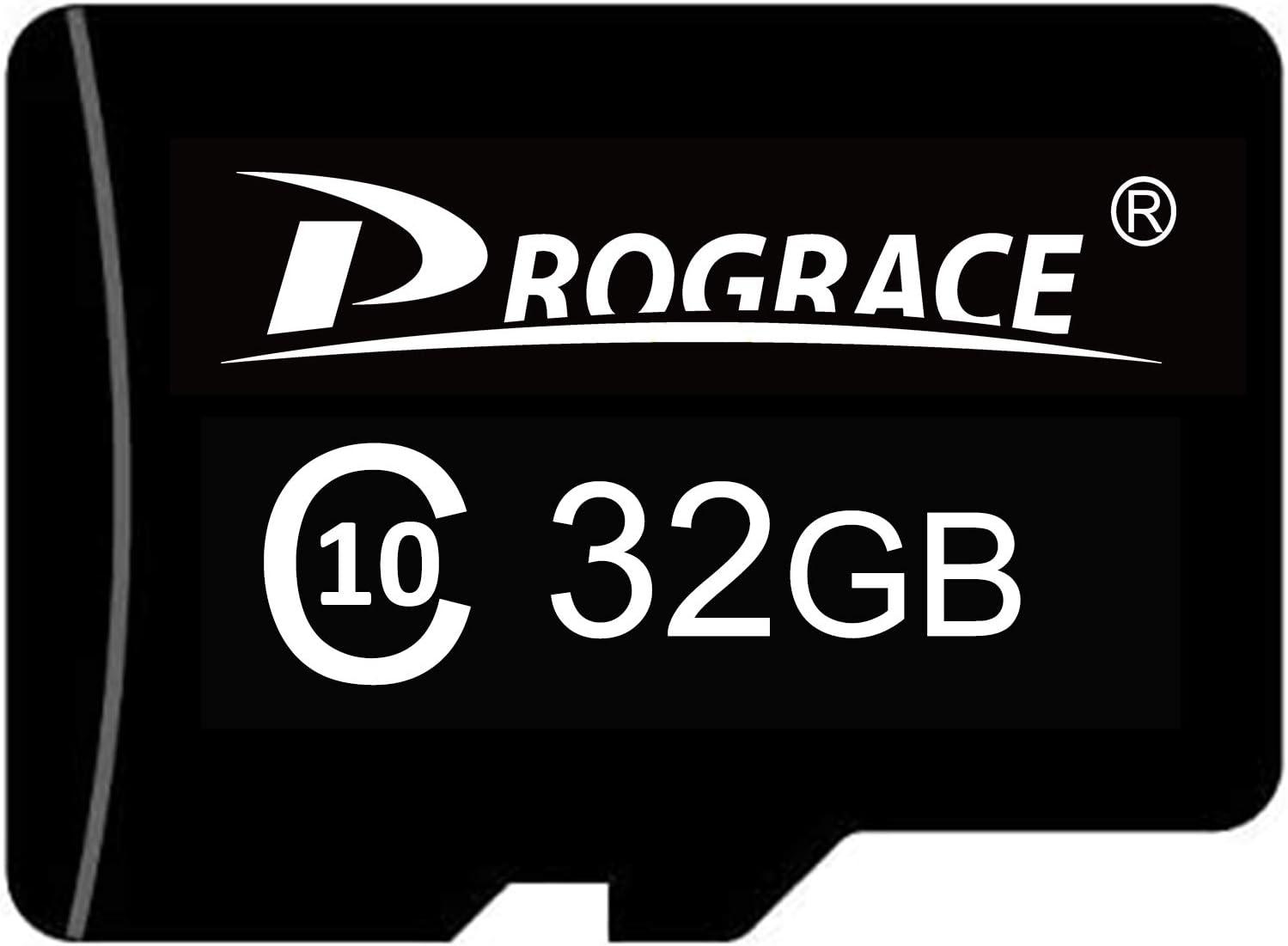 PROGRACE 32GB Micro Memory Card Class 10 TF Card for Kids Camera