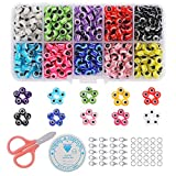 Cozywind 500 Piezas/Caja Abalorios de Mal de Ojo Cuentas 10 Color resina Mezclado Redondas para Hacer Pulseras Ojos de Demonio Hechas A Mano Accesorios de Fabricación de Collares Joyas 6 mm