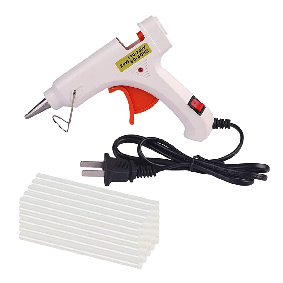 Hot Melt Glue Gun with 30 pcs Free Glue Sticks, High Temperature Melting Glue Gun with Safety Stand and Built in Fuse for Over Heat Protection for Small Craft Projects, Home, Office and Quick Repair