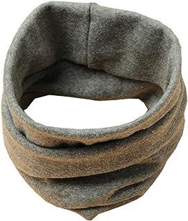 Boomly Bebé Bufanda Algodón Otoño invierno Calentador de cuello Collar Color sólido O anillo bufandas Pañuelo Bufanda tubo...