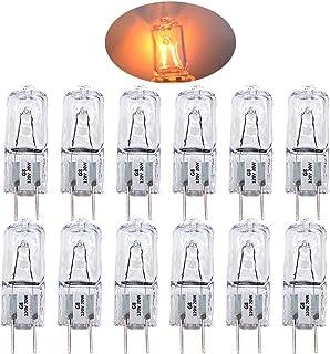 120V 20W G8 Base Bi-Pin Halogen Bulbs for Ceiling Lamps,Table Lamps,Cabinet Lighting(12 Pack)