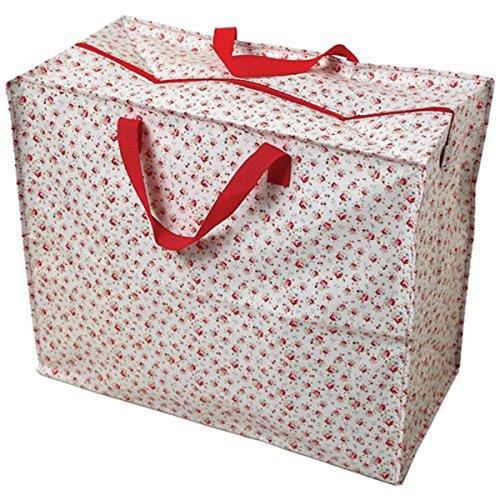 Große Aufbewahrungstasche Jumbo Bag Picknicktasche Tasche Einkaufstasche Wäschetasche Waschesack Blumen klein